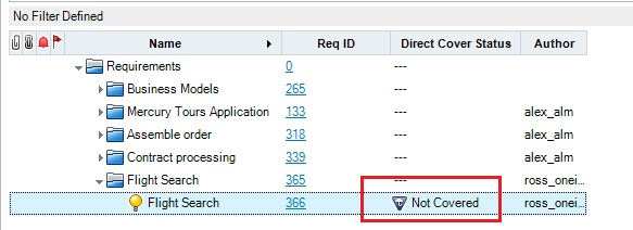 Understanding Direct Cover Status in HP ALM