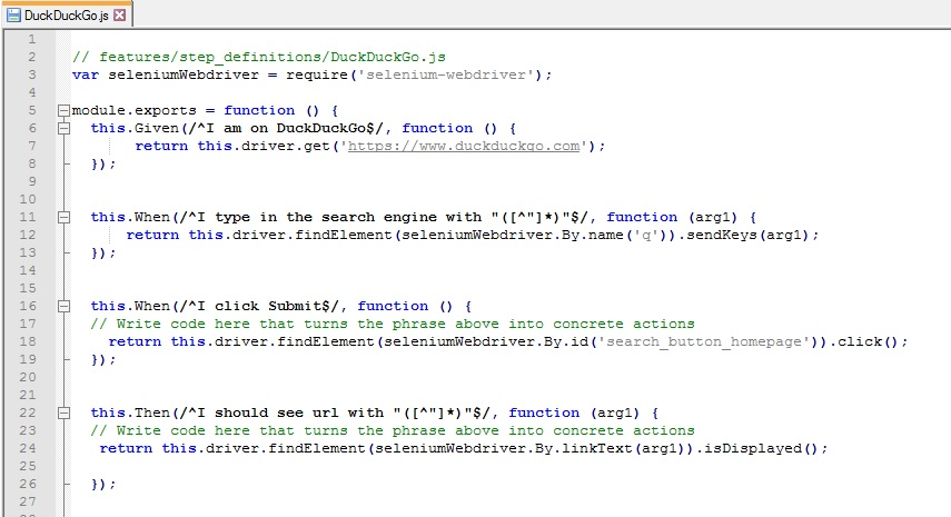 Introduction to Test Automation using Cucumber, JavaScript